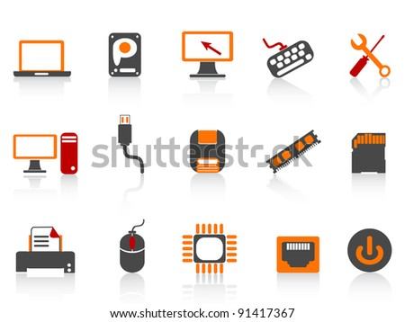 computer equipment icon color series