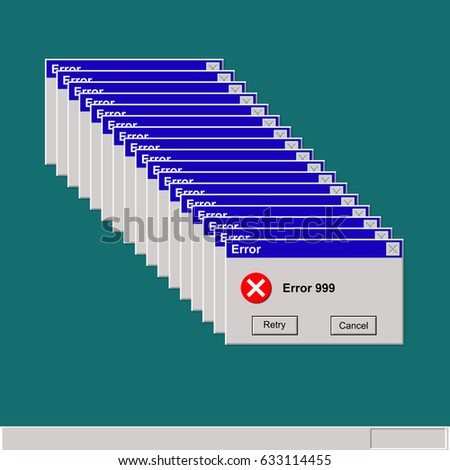 computer error display screen vector