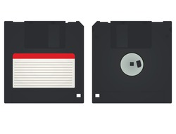Computer floppy disc. vector illustration