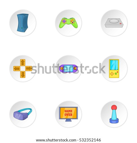 computer games icons set