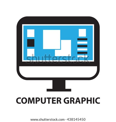 computer graphic  icon and