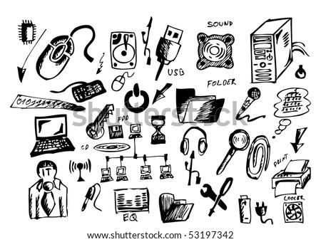 Symbol Drawings Computer Hand Draw Symbols