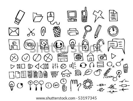 computer hand draw symbols