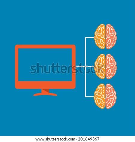 Computer Brain Icon Computer Icon Brain