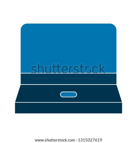 computer icon - computer laptop isolated, technology illustration - Vector computer. device screen