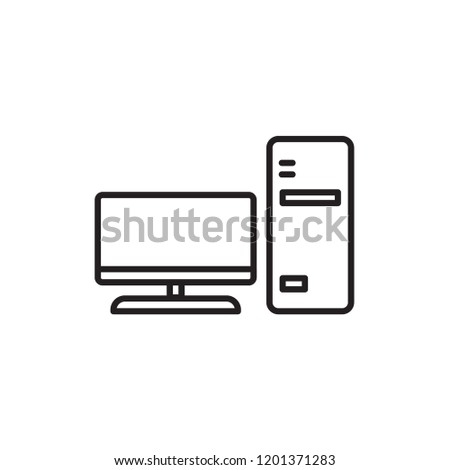 computer icon vector. electric appliances icon line style