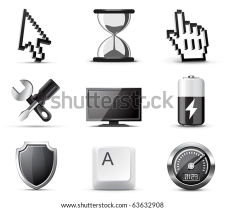 Computer icons | B&W series