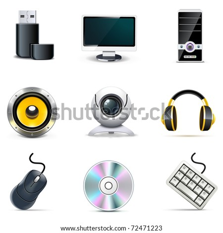 Computer icons | Bella series - stock vector
