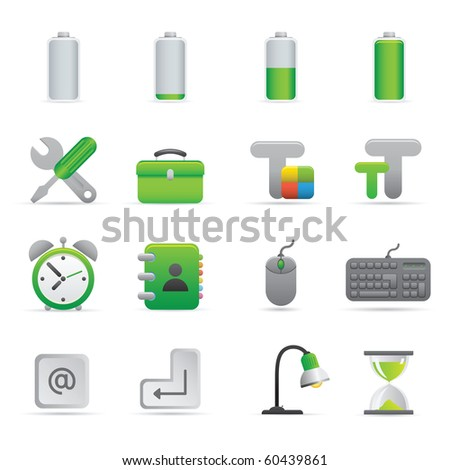 Computer Icons | Green01   Professional set for your website, application, or presentation