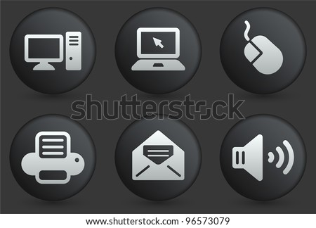 computer icons on black