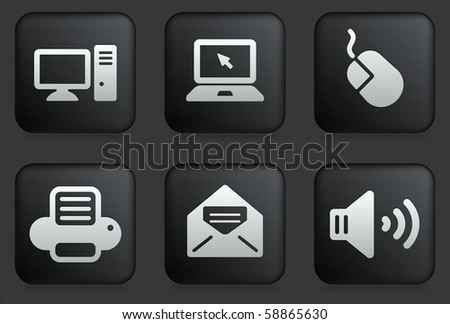 computer icons on square black