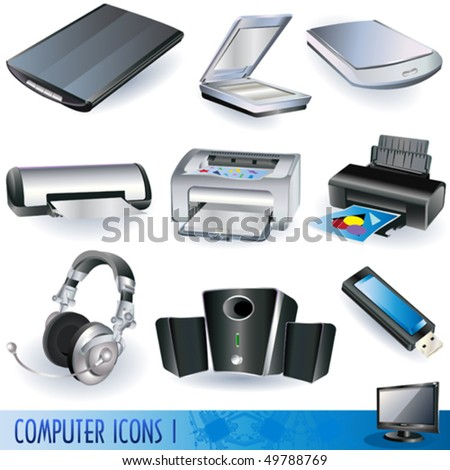 Computer icons - peripheral units