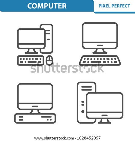 Computer Icons. Professional, pixel perfect icons optimized for both large and small resolutions. EPS 8 format. 5x size for preview.