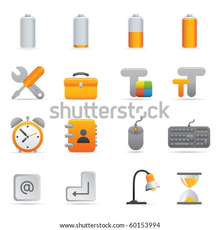 Computer Icons   Yellow01  Professional set for your website, application, or presentation