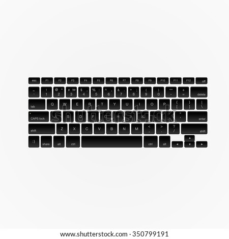 computer keyboard  isolated on