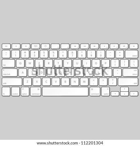 Computer keyboard. Vector.