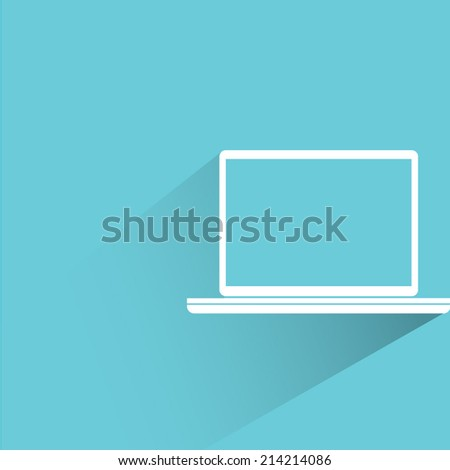 computer, labtop on blue background
