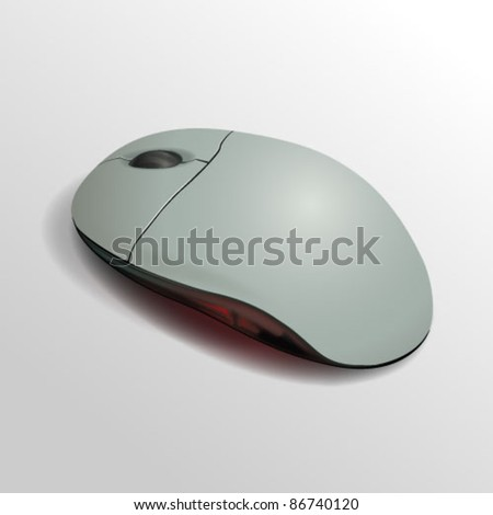 Computer laptop vector mouse. Easy editable for Tour design.