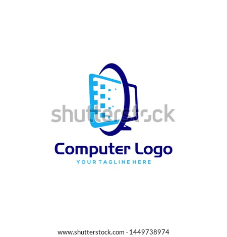 computer logo images stock