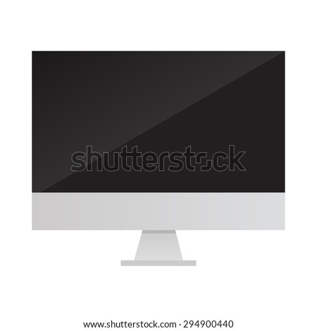 computer monitor cpu flat design