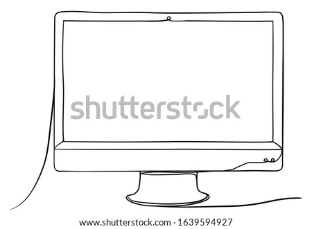 coloring clipart computer - black and white computer clip art PNG image  with transparent background | TOPpng