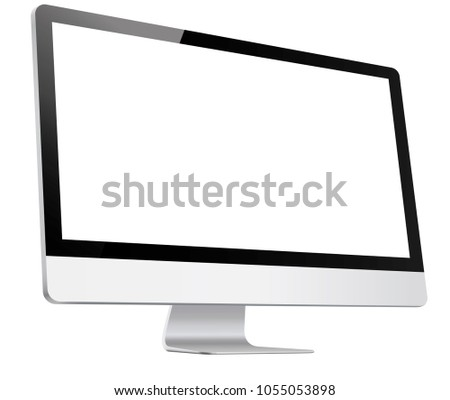 Computer, Monitor in Imac style realistic, 3D, isolated – vector illustration