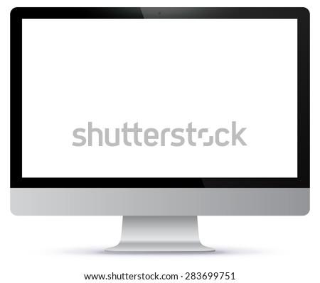 computer monitor vector mockup