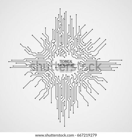 computer motherboard vector
