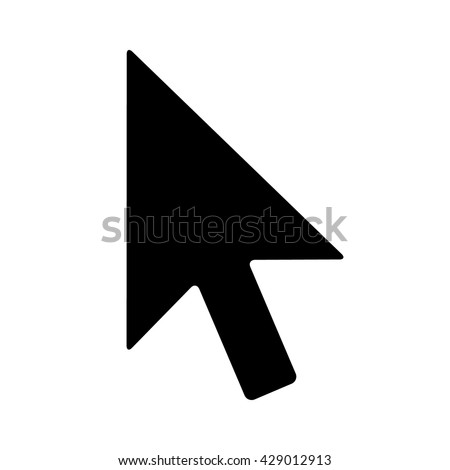 Computer mouse pointer cursor arrow flat vector icon for apps and websites