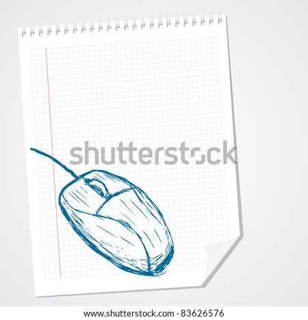 Computer Mouse Vector doodle