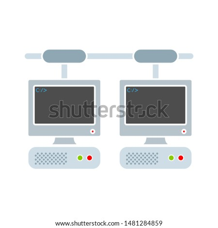 computer network icon. flat illustration of computer network vector icon. computer network sign symbol