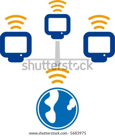 Computer network Wireless communications (vector)