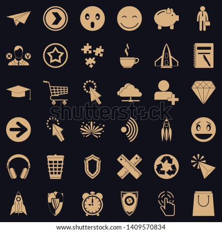 Computer pictogram icons set. Simple style of 36 computer pictogram vector icons for web for any design