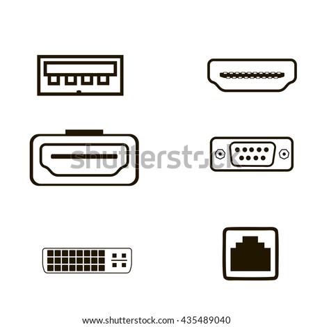 computer port icon computer