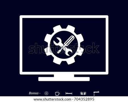 computer repair, icon, vector illustration eps10