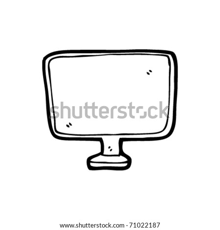 computer screen cartoon