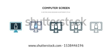 computer screen linux icon in