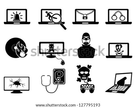 computer security and Cyber Thief icons