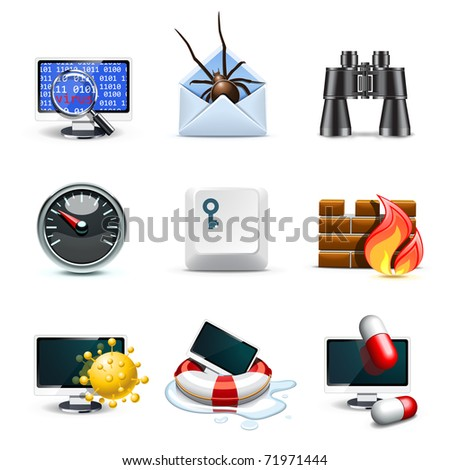 Computer security icons | Bella series