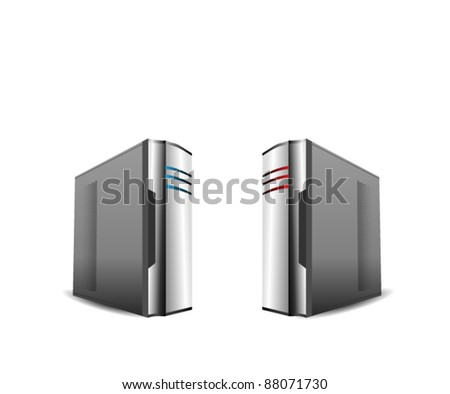 Computer Servers Isolated on White