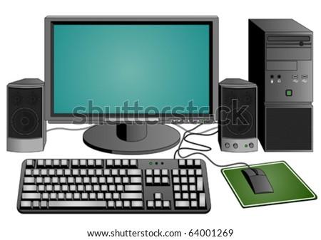 computer set  (vector)