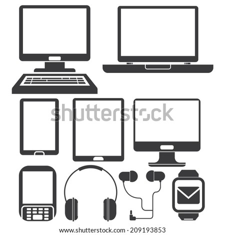 computer, tablet, smart phone and electronics gadget