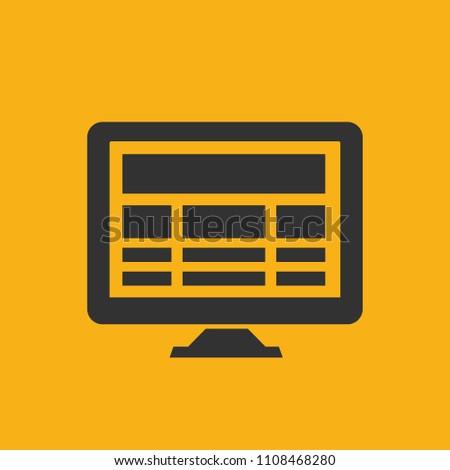 Computer vector icon design