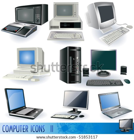 Computer vector illustration icons.