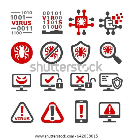 computer virus mal ware icon