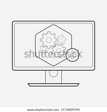 Computer widget icon line element. Vector illustration of computer widget icon line isolated on clean background for your web mobile app logo design.