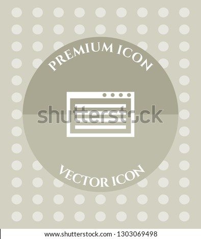 computer window icon for web