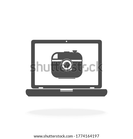 computer with webcam icon for
