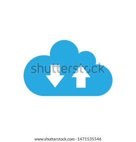 computing cloud icon. flat illustration of computing cloud - vector icon. computing cloud sign symbol