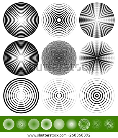 concentric circle elements
